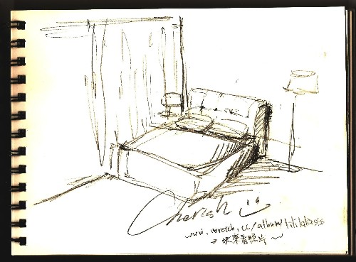 房子素描简单铅笔画